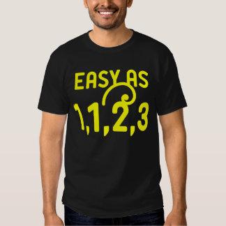 Easy as 1,1,2,3 t-shirt