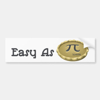 Easy As Pi Bumper Sticker