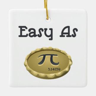 Easy As Pi Ceramic Ornament