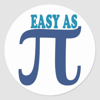 Easy As Pi Classic Round Sticker