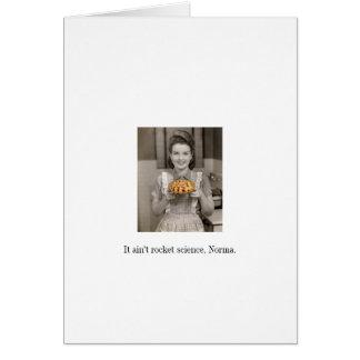 Easy as Pie Blank Greeting Card