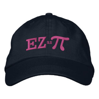 Easy as Pie with Pi Embroidered Hat