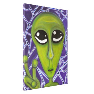 Easy Bein Green Canvas Print