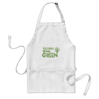 Easy being green adult apron