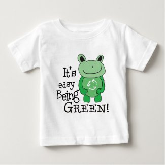 Easy Being Green Baby T-Shirt