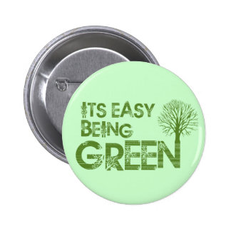 Easy being green button
