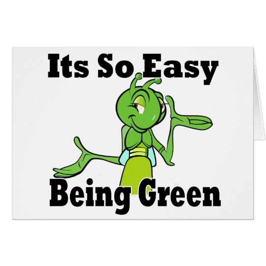 Easy Being Green Card