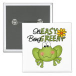 Easy Being Green Frog Button