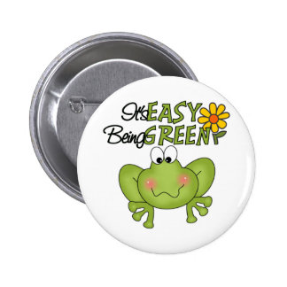 Easy Being Green Frog Buttons