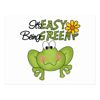 Easy Being Green Frog Postcard