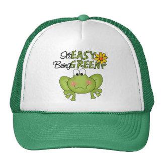 Easy Being Green Frog Trucker Hat