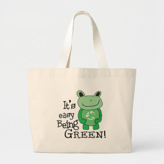 Easy Being Green Large Tote Bag