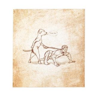 """""""Easy Boy"""" Dog Walking Man Notepads"""
