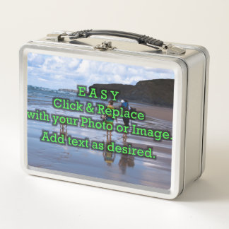 Easy Click and Replace Photos to Make Your Own Metal Lunch Box