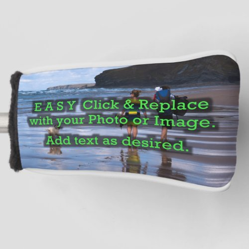 Easy Click  Replace Horizontal Image to Make Own Golf Head Cover