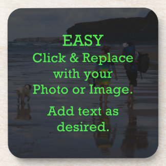 Easy Click & Replace Image to Create Your Own Coaster
