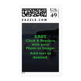 Easy Click & Replace Image to Create Your Own Postage