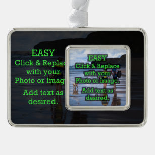 Easy Click to Create Your Own Photo on Photo Christmas Ornament