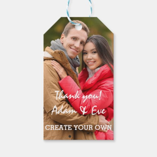 Easy Custom Photo Template Gift Tags