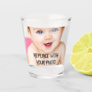 Easy design unique one of a kind personalized shot glass