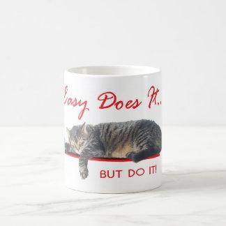 easy does it cat coffee mug