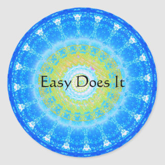 Easy Does It Classic Round Sticker