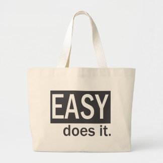 Easy Does It Drk Gry/White Tote Bags