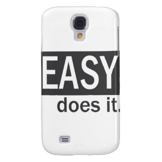 Easy Does It Drk Gry/White Samsung Galaxy S4 Cases