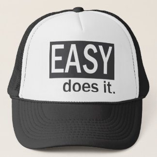 Easy Does It Drk Gry/White Trucker Hat