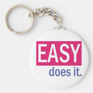 EASY does it Basic Round Button Keychain