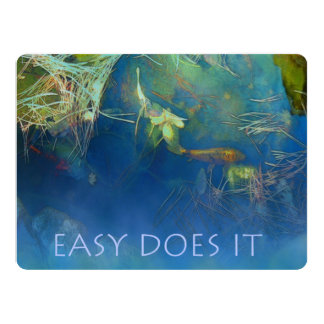 Easy Does It Koi Pond 6.5x8.75 Paper Invitation Card