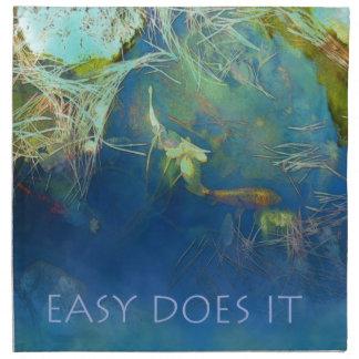 Easy Does It Koi Pond Napkins