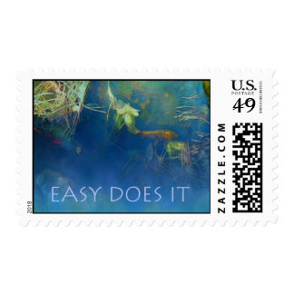 Easy Does It Koi Pond Stamp