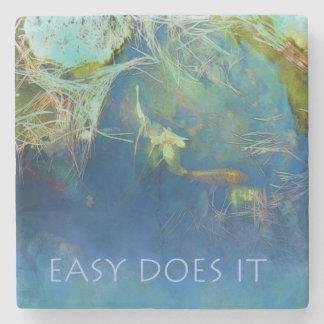 Easy Does It Koi Stone Coaster