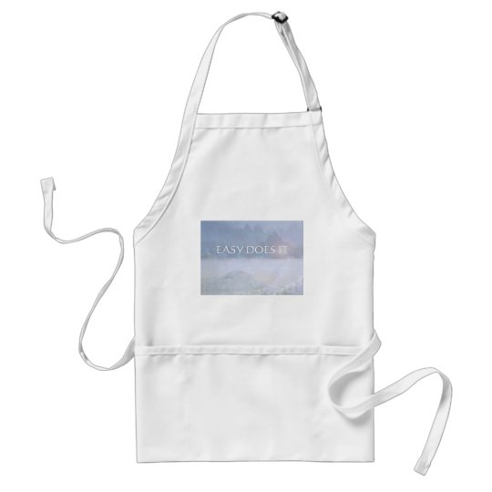 EASY DOES IT Lavender Blue Bay Adult Apron