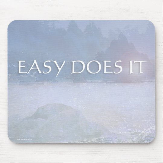 EASY DOES IT Lavender Blue Bay Mouse Pad