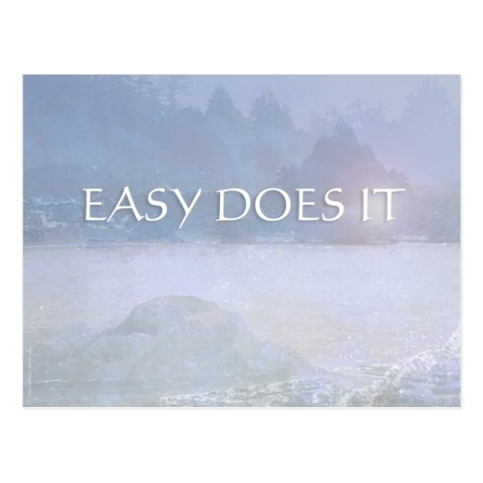 EASY DOES IT Lavender Blue Bay Postcard