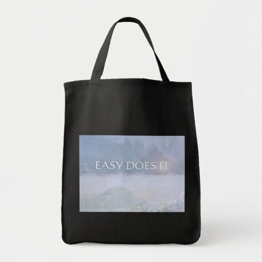 EASY DOES IT Lavender Blue Bay Tote Bag