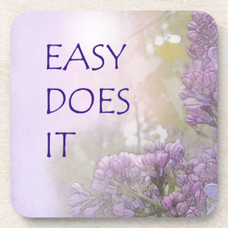 Easy Does It Lilacs Coaster