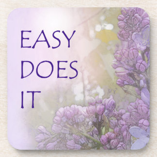 Easy Does It Lilacs Drink Coaster