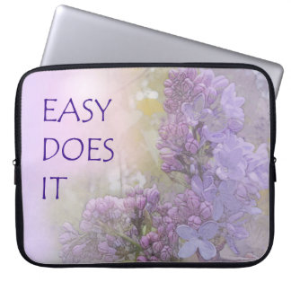 Easy Does It Lilacs Laptop Sleeve