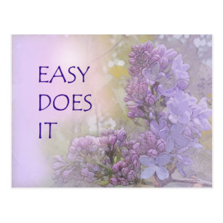 Easy Does It Lilacs Postcard