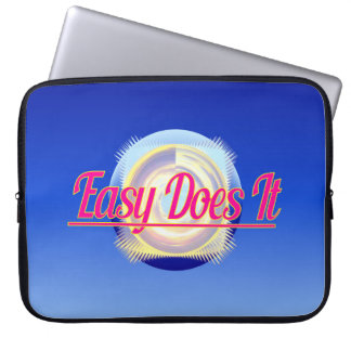 EASY DOES IT logo style Computer Sleeve