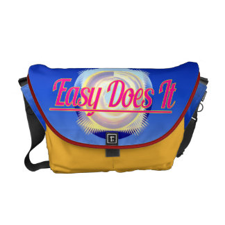 EASY DOES IT logo style Courier Bag