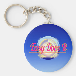 EASY DOES IT logo style Keychain