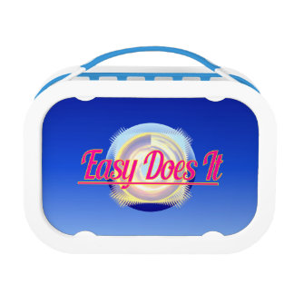EASY DOES IT logo style Lunch Box