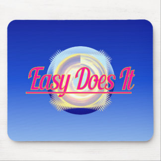 EASY DOES IT logo style Mouse Pad