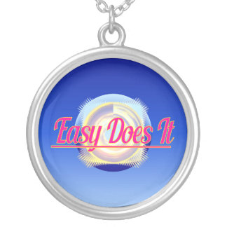 EASY DOES IT logo style Jewelry