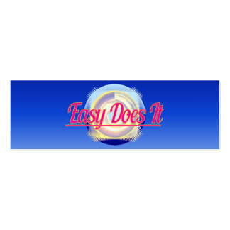 EASY DOES IT logo style Profile Card or bookmark