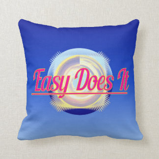 EASY DOES IT logo style Throw Pillow